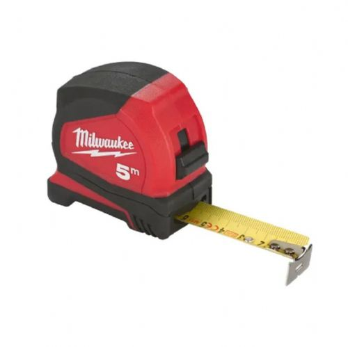 Milwaukee 4932459593 Pro Compact Tape Measure Metric Only 5m (Width 25mm)